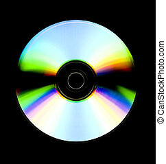 Recordable cd - close up of a recordable cd isolated on...