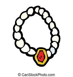cartoon pearl necklace