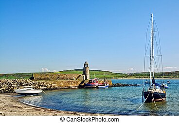 Port Logan, Dumfries and Galloway - Picturesque view of the...