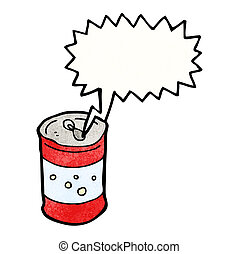 fizzing soda can cartoon