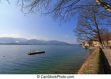 Tegernsee Lake, Germany - Peaceful view of Tegernsee...