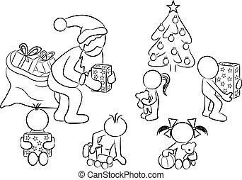 distribution of  christmas presents