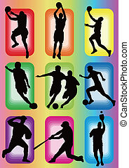 sport basketball soccer baseball icon silhouette