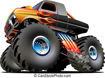 Cartoon Monster Truck Available EPS-10 vector formats...