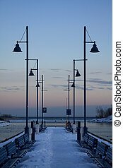 Lights at the end of the harbour - Lights on the bpardwalk...