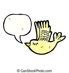 cute flying bird cartoon