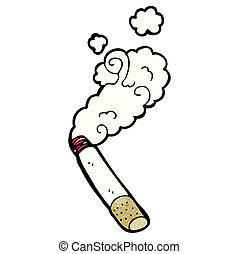 smoking cigarette cartoon