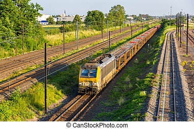 Belgian freight train in Strasbourg - Alsace, France