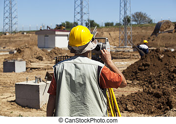 construction work site - Engineer on construction site