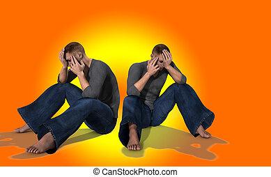 Sad Pair Of Men 2