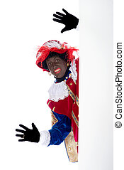 Zwarte Piet with whiteboard - Zwarte Piet is a character,...