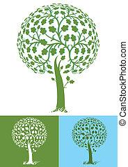stylized tree