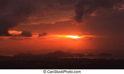 Phuket island at sunrise.