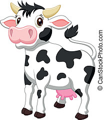 Cute cow cartoon