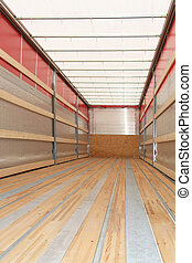Semi truck vertical - Interior view of empty semi truck...
