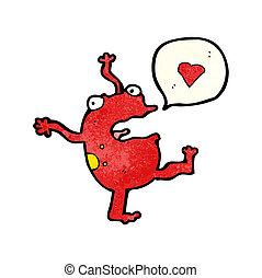 cartoon frog singing