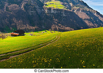 High Up in the Alps - The Small Village High Up in the Swiss...