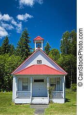 Old one-room country school house - Old one-room rural...