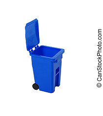 Recycling bin used to collect items to be reused, going...
