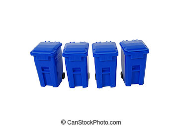Recycling bins used to collect items to be reused, Going...