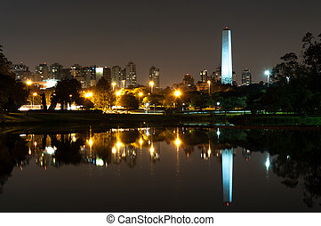 Obelisk sao paulo - Night view of the Obelisk of Sao Paulo...