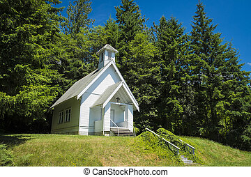 Old country church in Oregon - Old small rural church with...