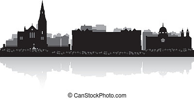 Galway city skyline vector silhouette