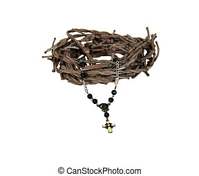Rosary and crown of thorns - Crown of thorns and rosary...
