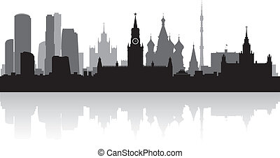 Moscow city skyline vector silhouette - Moscow city skyline...