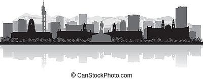 Pretoria city skyline vector silhouette - Pretoria city...