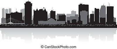 Winnipeg Canada city skyline vector silhouette - Winnipeg...