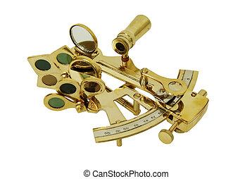 Sextant - Brass Sextant used for navigating by the stars