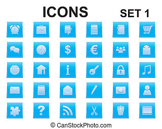 set of square icons