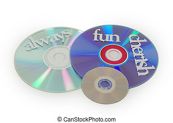 Fun software - Different kinds of software disks, and...