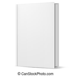 White book Illustration on white background for design