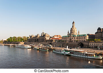 Embankment of the Elbe river. - Embankment of the Elbe river...
