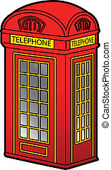 British Phone Booth - Classic Red British Phone Booth