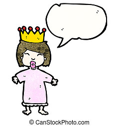 cartoon spoiled little princess