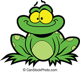 Cartoon Frog - Happy Smiling Cartoon Frog