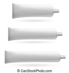 Three white tube Illustration on white background for design...