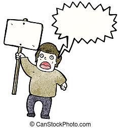 招貼, 政治, 抗議者