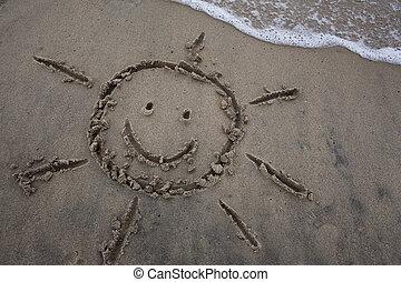 sol, Areia, desenho