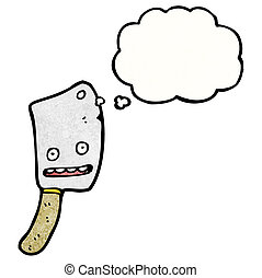 meat cleaver cartoon character