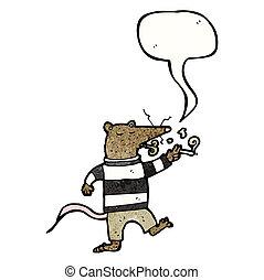 smoking rat cartoon