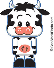 Cute Cow Cartoon Character - Cute Smiling Cow Cartoon...