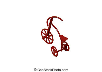 Red Tricycle - Retro red tricycle brings back memories of...