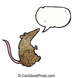 cartoon talking mouse