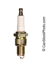 Spark plug isolated on white background