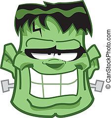Frankenstein, cabeza