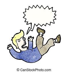 cartoon man falling
